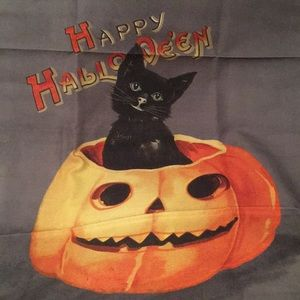 Halloween Black Cat Pumpkin Williams Sonoma Towel